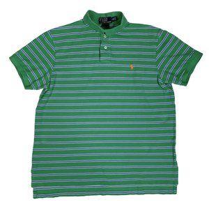 Polo Ralph Lauren Golf Shirt Striped Custom Fit SS